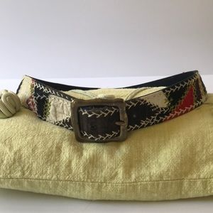 Lucky brand embroidered belt size32""